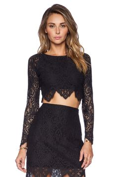 #REVOLVEclothing £107.83 MIDNIGHT CROP TOP - FOR LOVE & LEMONS