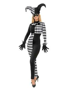 Womens Diamond Jester Costume