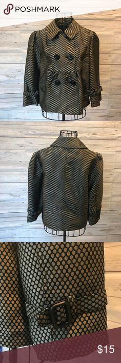 Gold & Black Jacket Honeycomb print, shiny finish gold and black jacket with buckle sleeves. Apt. 9 Jackets & Coats Blazers