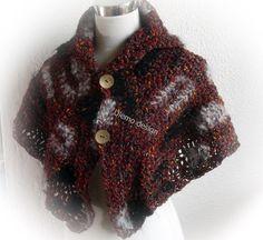 Cape * Kragen * Designer Garn von ULeMo`s  Mützen, Hüte, Taschen und mehr auf DaWanda.com
