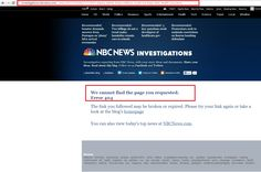 NBC Deletes Article Exposing Obama Admin …Reposts Edited Version