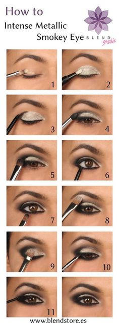 Silver Eyeshadow | Colorful Eyeshadow Tutorials For Beginners