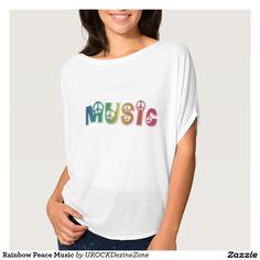 #Rainbow #Peace #Music Shirts  #zazzle