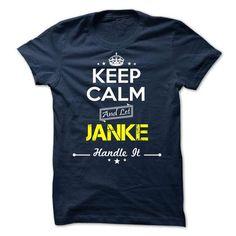 JANKE -Keep calm - #short sleeve shirts #crew neck sweatshirt. ORDER HERE => https://www.sunfrog.com/Valentines/-JANKE-Keep-calm.html?id=60505