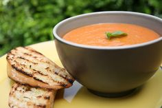 Tomato, roasted garlic and butterbean soup by Food For Think, via Flickr