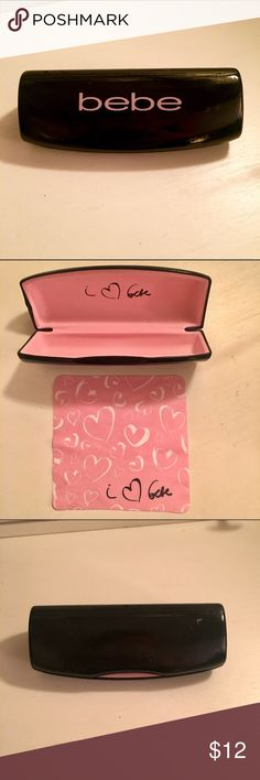 Bebe Eyeglass Case In great condition! Comes with cute cleaning cloth as well :) bebe Accessories