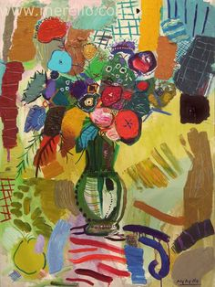 "EL IMPULSO DEL COLOR.  Jose Manuel Merello.- ""Florero Babilonia."" (130 x 97 cm)   ART CONTEMPORAIN. http://www.merello.com"