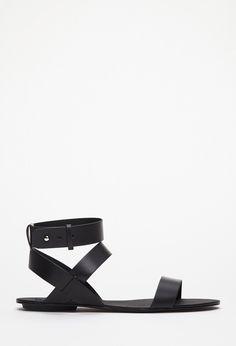 Sandalias de Tiras Hebilla - calzado - 2049258822 - Forever 21 EU