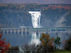 Montmorency falls is 30 meters higher than Niagara Falls and is located in Quebec city.