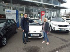 Mrs Redgwell from Hornchurch was very happy to collect her new Ford Ka from right outside our front door.