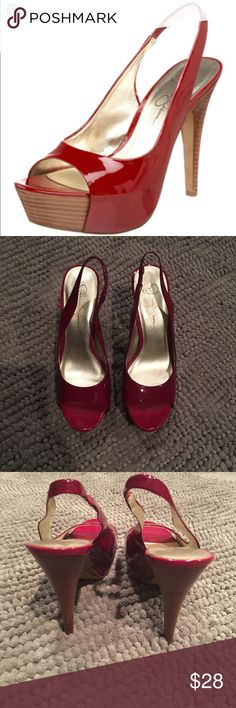 🆕LISTING- Jessica Simpson Astor Heels Worn only once for a few hours and I'm very good condition. Please see pics 2-4 for actual shoes for sale and ask any questions prior to purchase. Jessica Simpson Shoes Heels