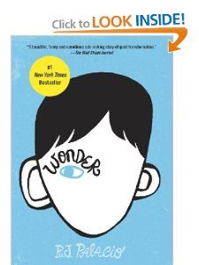 Wonder: R. J. Palacio - A book about a young boy with a facial deformity and how he and others see him.  A great book about self-esteem, but also about accepting others who may seem different.  This is a chapter book for ages 8 and up.