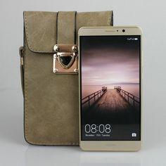Matte Leather Mini Crossbody Bag Cellphone Wallet Pouch for Huawei P9 Plus /Mate 9 Pro iPhone Samsung Galaxy Note 3/4/5/S7 Edge