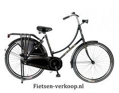 Omafiets Zwart 24 Inch   bestel gemakkelijk online op Fietsen-verkoop.nl