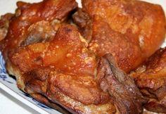 Ropogós-omlós sült sertéscsülök recept képpel. Hozzávalók és az elkészítés részletes leírása. A ropogós-omlós sült sertéscsülök elkészítési ideje: 95 perc