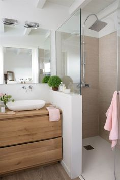 Bathroom with shower cabin - . - cabin - Badezimmer mit Duschkabine – – Bathroom with shower cabin – … – cabin Cabin Bathrooms, Small Bathrooms, Small Bathroom Ideas, Colorful Bathroom, Complete Bathrooms, Modern Bathrooms, Master Bathrooms, Bath Ideas, Shower Cabin