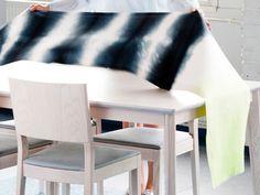 Tee itse liukuvärjätty pöytäliina – Kotiliesi