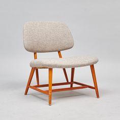 Stol, TeVe-stolen, design: Alf Svensson, Studio Ljungs industrier, Bra Bohag, Formgiven 1953
