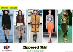 Zippered Skirt #Fashion Trend for Fall Winter 2014 #Fall2014 #Fall2014Trends #FashionTrends2014