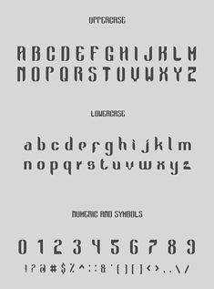 Golok Font Letters