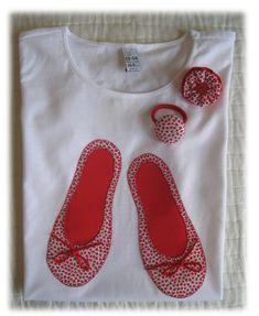 Camisetas personalizadas - lazos de tul: Bailarinas para Lara