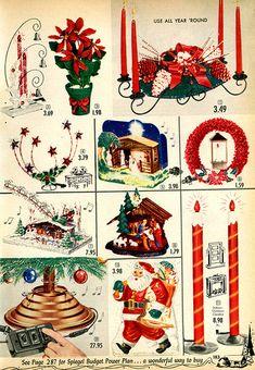 1955  Spiegel Christmas Catalog P183 - vintage Christmas - mid century modern