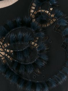 Fendi cut out sweatshirt Fiber Art Jewelry, Jewelry Art, Curvy Girl Fashion, Womens Fashion, Fur Cape, Fur Accessories, Russian Fashion, Textile Art, Fendi