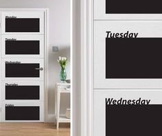 Blackboard Door Planner by The Binary Box $48.52 at www.notonthehighstreet.com