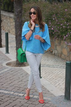 Blue Dots ( Sunglasses & Shirts & Blouses )
