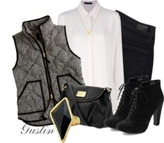 """jcrew vest"" by stacy-gustin on Polyvore"
