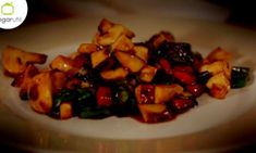 Setas y verduras Teriyaky