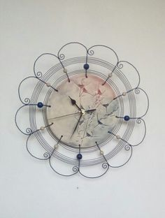 Clocks – Grasses clock wired ... 2, wire-wrapping – a unique product by HaCu on…
