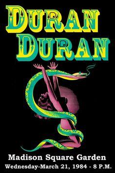 Duran Duran concert poster