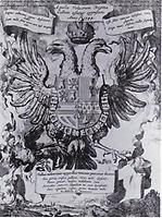 Der gallische Hahn im Fang des Adlers, 1544