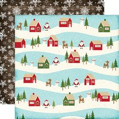 Echo Park - The Story of Our Christmas Collection - 12 x 12 Double Sided Paper - Village at Scrapbook.com