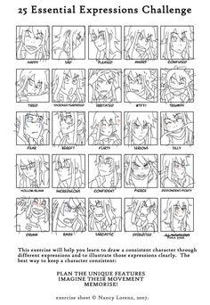 Piras 25 essential expressions meme by Flipfloppery on DeviantArt