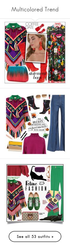 """""""Multicolored Trend"""" by yours-styling-best-friend ❤ liked on Polyvore featuring Gucci, Forever 21, Steve Madden, Tobi, Serpui, M.i.h Jeans, Golden Goose, Malone Souliers, Orla Kiely and Kate Spade"""