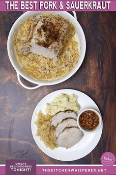 Ring in the New Year with THE BEST Pork and Sauerkraut recipe! Juicy and packed with so much flavor! Mom's recipe perfected! | the best pork roast, new year's pork and sauerkraut, oven roast pork, new year food, the best pork roast, roasted pork loin and sauerkraut #porkroast #porkandsauerkraut #newyearseve #comfortfood #pork #sauerkraut Pork Roast In Oven, Pork Roast Recipes, Pork Loin, Meat Recipes, Pork Ribs, Sausage Recipes, Healthy Recipes, New Years Pork And Sauerkraut, Pork And Sauerkraut Recipe