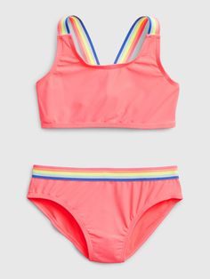Swimsuits For Tweens, Best Swimsuits, Bathing Suits For Teens, Cute Bathing Suits, Kids Outfits Girls, Girls Fashion Clothes, Kids Suits, Lingerie, Kids Rainbow