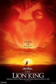 New the week of 11-15-11: The Lion King, re-released