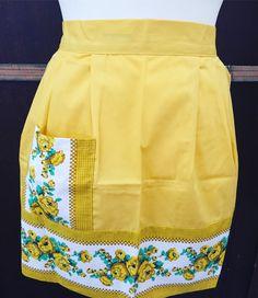 by WifinpoofVintage on Etsy Aprons Vintage, Vintage Shops, Vintage Yellow, Unique Vintage, Home Goods Decor, Half Apron, Long Ties, Vintage Home Decor, 1950s