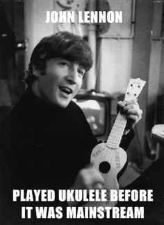 I do play ukulele as well, true story.