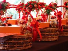 Christmas gift basket decoration