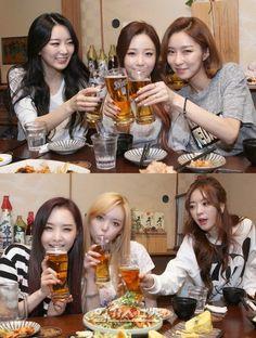 Dal Shabet's beer time! - Latest K-pop News - K-pop News | Daily K Pop News