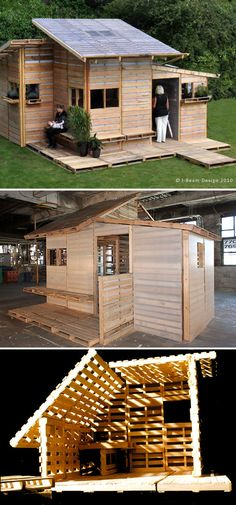 Amazing Shed Plans - Pallet House - Now You Can Build ANY Shed In A Weekend Even If You've Zero Woodworking Experience! Start building amazing sheds the easier way with a collection of shed plans! Pallet Building, Building A Shed, Building Plans, Shed Homes, Diy Shed, Recycled Pallets, 1001 Pallets, Wood Pallets, Shed Storage