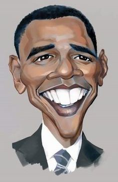 President Barak Obama (CARICATURE) http://dunway.us. For more great pins go to @KaseyBelleFox