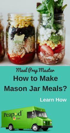 Meal Prep Master - My WordPress Website Mason Jar Meals, Meals In A Jar, Mason Jars, Slow Cooker Recipes, Cooking Recipes, Jar Recipes, Recipies, Easy Meal Prep, Quick Meals