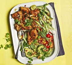 Thai-inspired chicken makes a perfect barbecue dish, serve with a feast of dressed green salad and herbs