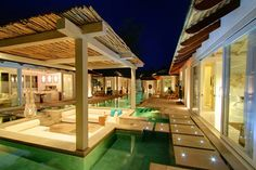 freshome - Integrated within a scenic landscape, on the beach of Koh Samui island in Thailand, Villa Mia's architecture is inspired by the Balinese style of many pavilions built around a central courtyard and enclosing a swimming pool.