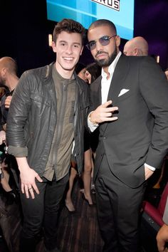 Shawn Mendes and Drake at the 2016 American Music Awards